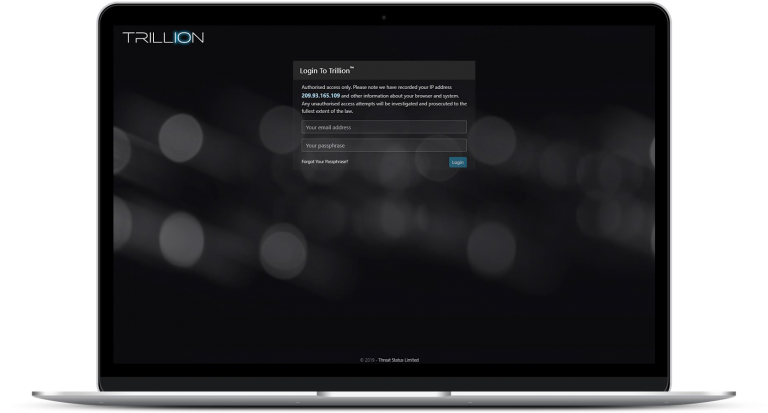 Trillion Login Page