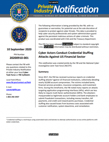 FBI CredStuff